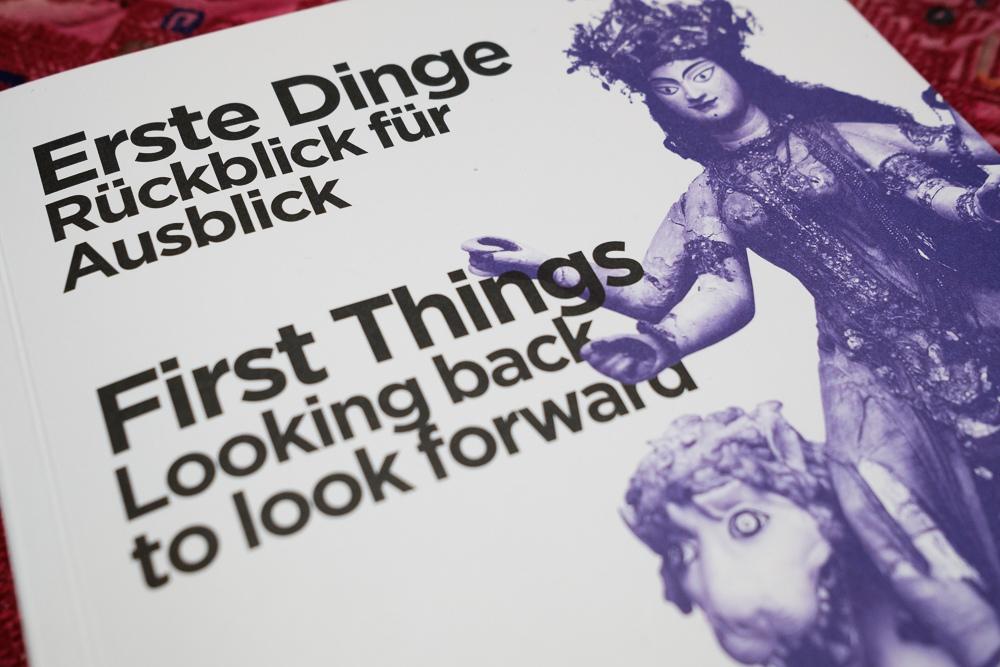 10.01.2019, Hamburg, Deutschland - Ausstellung Erste Dinge im Markk Hamburg, Fuehrungen. Katalog. MODEL RELEASE: NOT APPLICABLE, PROPERTY RELEASE: NO